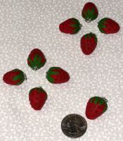 Cute Strawberry Charm Pendants by Kyle-Lefort