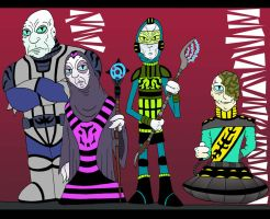 Alien Group by Lordwormm