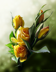 Sunny bouquet of Aphrodite by AnnaZLove