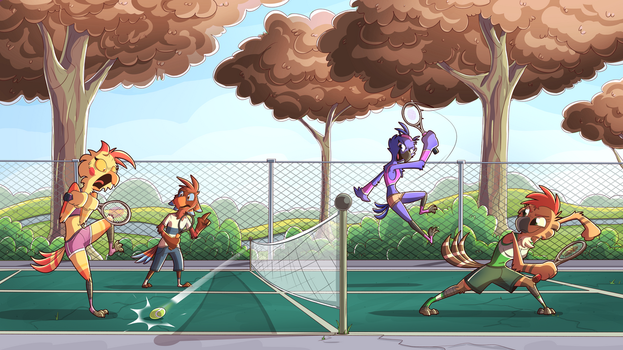 Bird Tennis by PiemationsArt