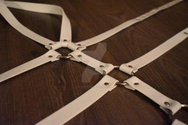 White PVC Bodyharness by Allaboutgag