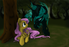 Fluttershy and the Changeling by MissSeaShanty