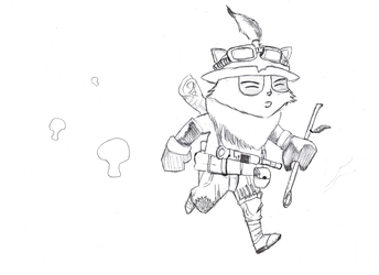 Teemo, the Swift Scout by cardboardtheory