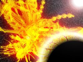 Exploding Planet A1 by Zero86-SK
