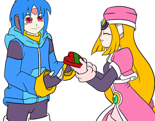 Megaman ZX: Praire and Thetis Valentine by EliHedgie95