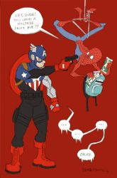 Spider-Man and Captain America by JoJo-Seames