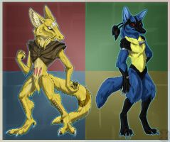 Kadabra and Lucario
