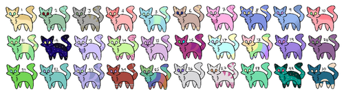 [Cheap Cat Adoptables] 24/30 {Open} by CloudyNightmare