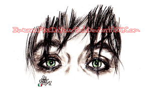 Billie Joe's Green eyes by IwannaPissInYourBed