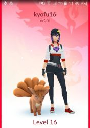 Me and my buddy in Pokmon GO. by kyofu16