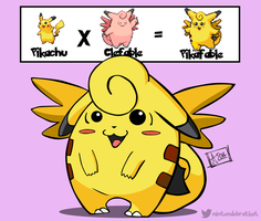 2014: Pikafable #036 (Pokemon Fusion) by nintendobratkat