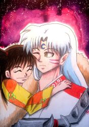 Rin x Sesshomaru [ValentinesDay] by Koza-Kun