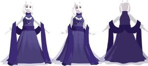 MMD DanceTale Toriel (Model DL) by KittyNekkyo