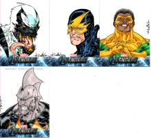Avengers sketchcards set 5 by SpiderGuile