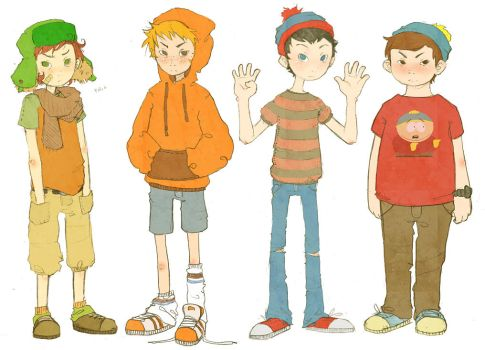The South Park Boys by leigher