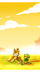 Sonic Boom: Tails and Cosmo. by Cheroy