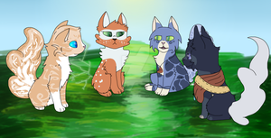 [FT] Winters Vale Friends by StormClawPonyRises