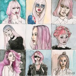 Portraits in pink by virydi