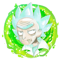 .:: Watercolor Rick ::. +Speedpaint by OpalesquePrincess