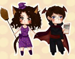 Emi and Harry - my friends by Solceress