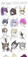 restyled PF characters by Witequeen