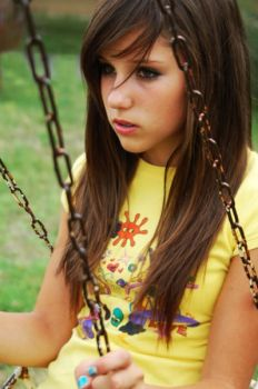 nice girl in the swing by beckyBeam