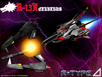 R-TYPE Delta R-13A Cerberus by Tarrow100