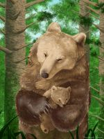 Bear Mother by SmaragdLemoN