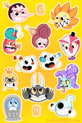 Cuphead Stickers by BluevanDeurs