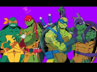 Rise of the TMNT ( 2018 Re-Design ) by Henil031
