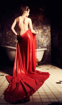 The girl in red by Narga-Lifestream