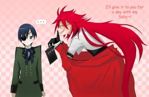 Ciel wants a Death Note by red-X-snow