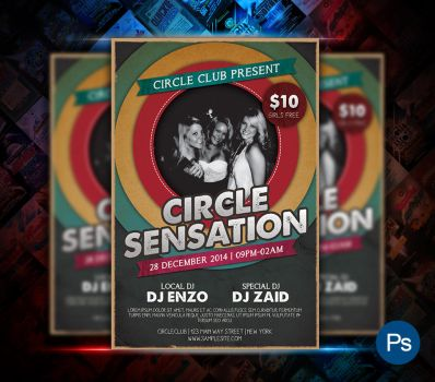 Circle Sensation Party Flyer by afizs