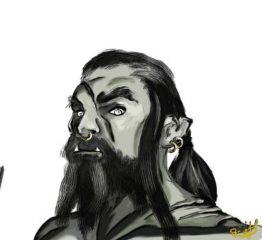 (half) orc by Hallith