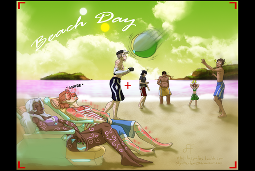 Beach Day Voltron by Ally-the-Fox-20