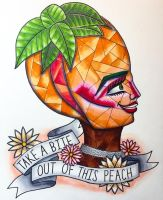 Nina Bonina Brown - Take A Bite Of This Peach by rosiedelise