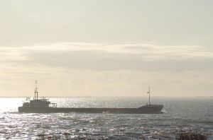 Small Tanker Off Spurn Point by moonhare77