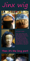 Jinx WIG making by FoxTailCosplay
