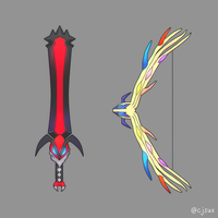 Yveltal Sword or Xerneas Bow