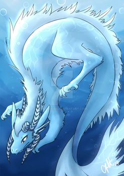 Water Dragon Glamour by elenawing