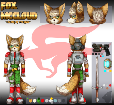 ::Commission::__Fox_McCloud_Reference_ by knucklesOrigins