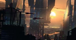 Sunset on the Future by Raphael-Lacoste