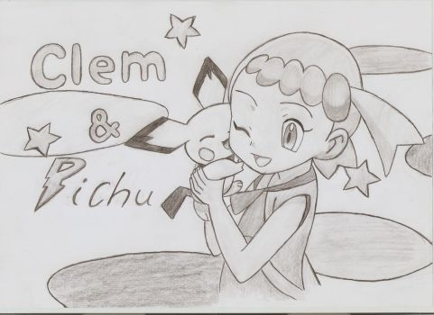 Pichu and Clem by Adripika
