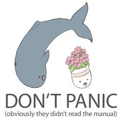 DON'T PANIC by Exoe