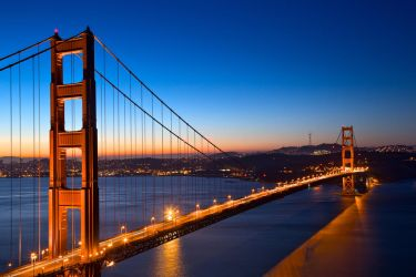 Golden Gate Dawn Bridge by somadjinn