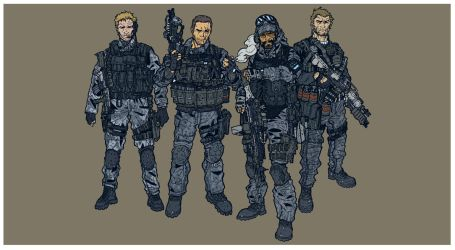 Tech-Com Soldiers by BongzBerry