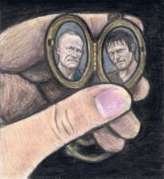 Merle and Daryl in a locket by gagambo