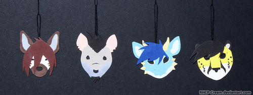 Cardboard Pendants by RHCP-Cream