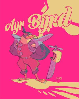 Ayr Byrd: The Flying Bird Hero by jouste
