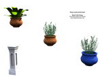 Plants, pots, pillars in PNG by madetobeunique
